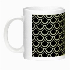 Scales2 Black Marble & Silver Glitter (r) Night Luminous Mugs by trendistuff