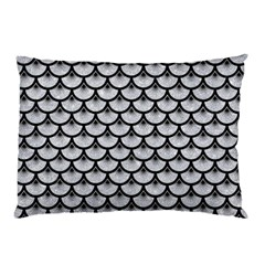 Scales3 Black Marble & Silver Glitter Pillow Case by trendistuff