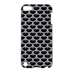 Scales3 Black Marble & Silver Glitter (r) Apple Ipod Touch 5 Hardshell Case