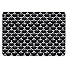 Scales3 Black Marble & Silver Glitter (r) Samsung Galaxy Tab 8 9  P7300 Flip Case by trendistuff