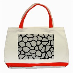 Skin1 Black Marble & Silver Glitter (r) Classic Tote Bag (red) by trendistuff