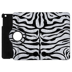 Skin2 Black Marble & Silver Glitter Apple Ipad Mini Flip 360 Case by trendistuff