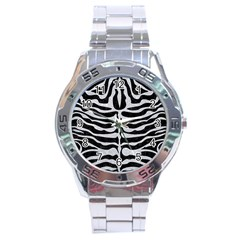 Skin2 Black Marble & Silver Glitter (r) Stainless Steel Analogue Watch by trendistuff