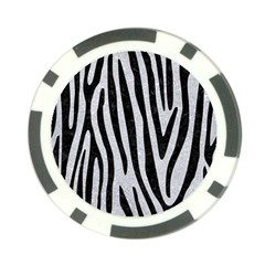 Skin4 Black Marble & Silver Glitter (r) Poker Chip Card Guard (10 Pack) by trendistuff