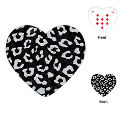 Skin5 Black Marble & Silver Glitter Playing Cards (heart)  by trendistuff