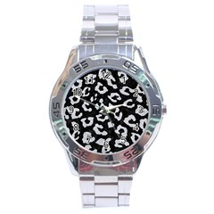 Skin5 Black Marble & Silver Glitter Stainless Steel Analogue Watch by trendistuff