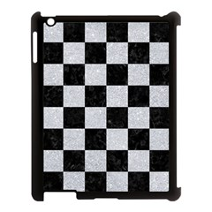 Square1 Black Marble & Silver Glitter Apple Ipad 3/4 Case (black) by trendistuff