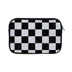 Square1 Black Marble & Silver Glitter Apple Ipad Mini Zipper Cases by trendistuff