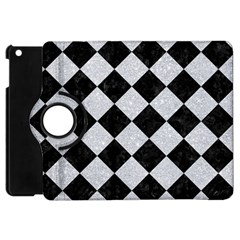 Square2 Black Marble & Silver Glitter Apple Ipad Mini Flip 360 Case by trendistuff