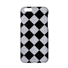 Square2 Black Marble & Silver Glitter Apple Iphone 6/6s Hardshell Case