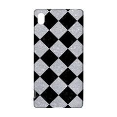 Square2 Black Marble & Silver Glitter Sony Xperia Z3+