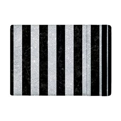 Stripes1 Black Marble & Silver Glitter Apple Ipad Mini Flip Case by trendistuff