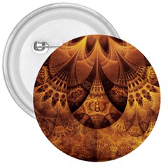 Beautiful Gold And Brown Honeycomb Fractal Beehive 3  Buttons by beautifulfractals