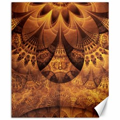 Beautiful Gold And Brown Honeycomb Fractal Beehive Canvas 8  X 10  by beautifulfractals