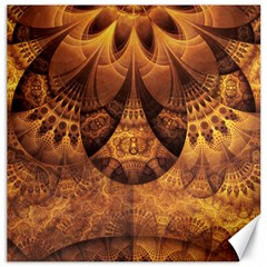 Beautiful Gold And Brown Honeycomb Fractal Beehive Canvas 16  X 16   by beautifulfractals