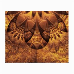 Beautiful Gold And Brown Honeycomb Fractal Beehive Small Glasses Cloth (2 Side) by beautifulfractals