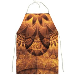 Beautiful Gold And Brown Honeycomb Fractal Beehive Full Print Aprons by jayaprime