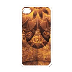 Beautiful Gold And Brown Honeycomb Fractal Beehive Apple Iphone 4 Case (white) by jayaprime