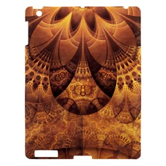Beautiful Gold And Brown Honeycomb Fractal Beehive Apple Ipad 3/4 Hardshell Case by jayaprime