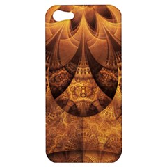 Beautiful Gold And Brown Honeycomb Fractal Beehive Apple Iphone 5 Hardshell Case by beautifulfractals