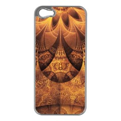 Beautiful Gold And Brown Honeycomb Fractal Beehive Apple Iphone 5 Case (silver) by jayaprime