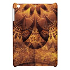 Beautiful Gold And Brown Honeycomb Fractal Beehive Apple Ipad Mini Hardshell Case by jayaprime