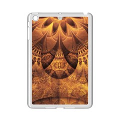 Beautiful Gold And Brown Honeycomb Fractal Beehive Ipad Mini 2 Enamel Coated Cases by jayaprime