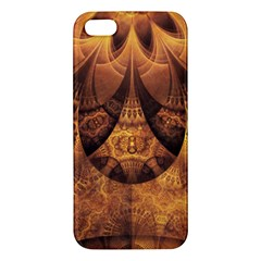 Beautiful Gold And Brown Honeycomb Fractal Beehive Apple Iphone 5 Premium Hardshell Case by jayaprime