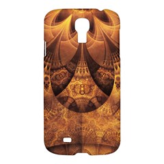 Beautiful Gold And Brown Honeycomb Fractal Beehive Samsung Galaxy S4 I9500/i9505 Hardshell Case by beautifulfractals