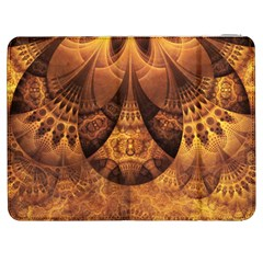 Beautiful Gold And Brown Honeycomb Fractal Beehive Samsung Galaxy Tab 7  P1000 Flip Case by jayaprime
