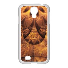 Beautiful Gold And Brown Honeycomb Fractal Beehive Samsung Galaxy S4 I9500/ I9505 Case (white) by beautifulfractals