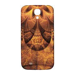 Beautiful Gold And Brown Honeycomb Fractal Beehive Samsung Galaxy S4 I9500/i9505  Hardshell Back Case by beautifulfractals