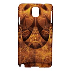 Beautiful Gold And Brown Honeycomb Fractal Beehive Samsung Galaxy Note 3 N9005 Hardshell Case by beautifulfractals