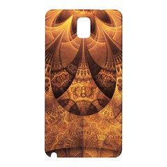 Beautiful Gold And Brown Honeycomb Fractal Beehive Samsung Galaxy Note 3 N9005 Hardshell Back Case by beautifulfractals