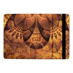 Beautiful Gold And Brown Honeycomb Fractal Beehive Samsung Galaxy Tab Pro 10 1  Flip Case by jayaprime