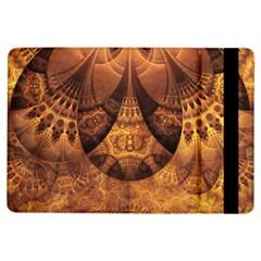 Beautiful Gold And Brown Honeycomb Fractal Beehive Ipad Air Flip by jayaprime