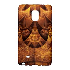 Beautiful Gold And Brown Honeycomb Fractal Beehive Galaxy Note Edge by jayaprime
