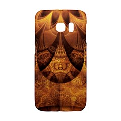 Beautiful Gold And Brown Honeycomb Fractal Beehive Galaxy S6 Edge by beautifulfractals