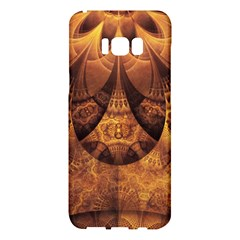 Beautiful Gold And Brown Honeycomb Fractal Beehive Samsung Galaxy S8 Plus Hardshell Case  by jayaprime