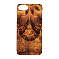 Beautiful Gold And Brown Honeycomb Fractal Beehive Apple Iphone 8 Hardshell Case by jayaprime