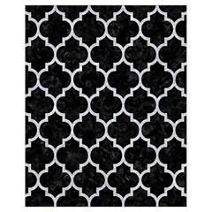 Tile1 Black Marble & Silver Glitter (r) Drawstring Bag (small) by trendistuff
