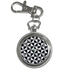 Triangle1 Black Marble & Silver Glitter Key Chain Watches by trendistuff