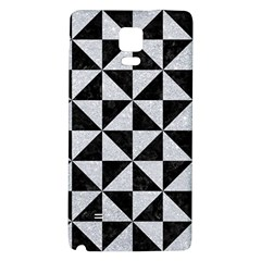 Triangle1 Black Marble & Silver Glitter Galaxy Note 4 Back Case