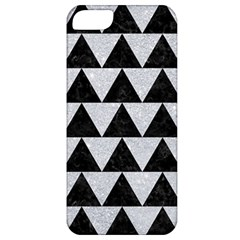 Triangle2 Black Marble & Silver Glitter Apple Iphone 5 Classic Hardshell Case