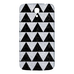 Triangle2 Black Marble & Silver Glitter Samsung Galaxy Mega I9200 Hardshell Back Case by trendistuff