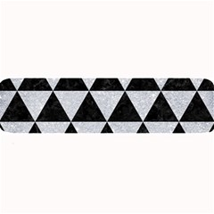 Triangle3 Black Marble & Silver Glitter Large Bar Mats by trendistuff