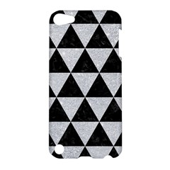 Triangle3 Black Marble & Silver Glitter Apple Ipod Touch 5 Hardshell Case