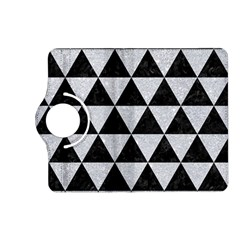 Triangle3 Black Marble & Silver Glitter Kindle Fire Hd (2013) Flip 360 Case by trendistuff