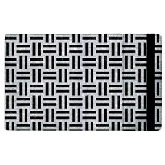 Woven1 Black Marble & Silver Glitter Apple Ipad 3/4 Flip Case by trendistuff