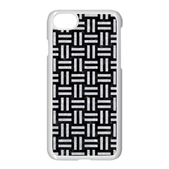 Woven1 Black Marble & Silver Glitter (r) Apple Iphone 8 Seamless Case (white) by trendistuff